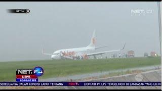 Video Pesawat Lion Air Tergelincir Saat Mendarat di Bandara Supadio NET24 MP3, 3GP, MP4, WEBM, AVI, FLV Februari 2019