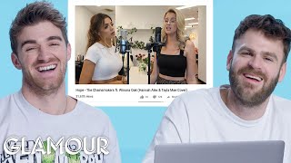 Video The Chainsmokers Watch Fan Covers on YouTube | Glamour MP3, 3GP, MP4, WEBM, AVI, FLV Juni 2019