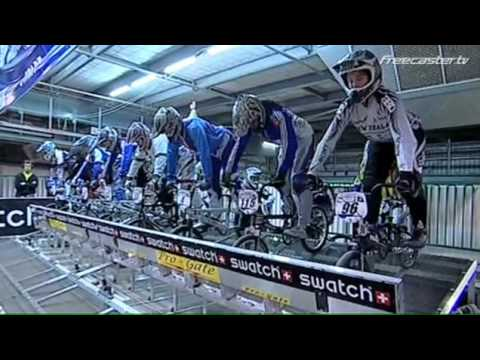 2009 bmx - Coverage of the final of the elite women's final at the BMX world championships in Adelaide in July 2009. The line-up of the final consists of Eva Ailloud, N...