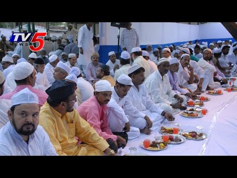 T Minister Harish Rao Gives Iftar Party to Muslims : TV5 News