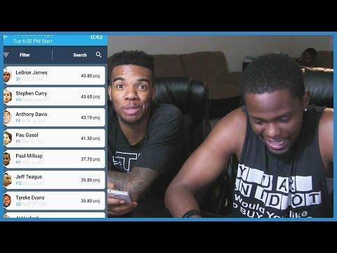 OUR FIRST NBA DRAFT!! - Draft Fantasy Sports App   NBA Fantasy Sports