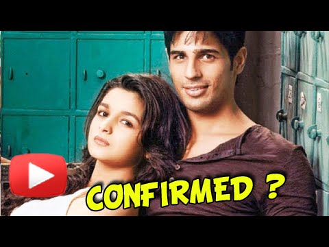 Sidharth Malhotra Hints A Relationship With Alia B