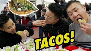 TACOS BY THE BORDER! (Tacos El Gordo) - Fung Bros Food