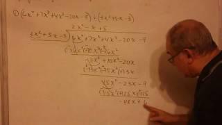 Algebra Elemental - Lección 77 - B (igualdad De Polinomios, División De Polinomios)