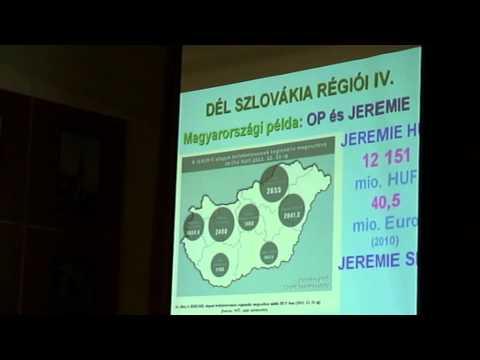 Vitárius Lajos előadása a szlovákiai régiók gazdasági fejlődésének lehetőségeiről