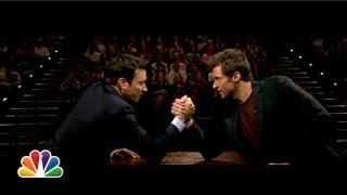 Jimmy Fallon and Hugh Jackman Arm Wrestle (Late Night with Jimmy Fallon)
