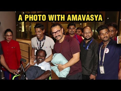 Aamir Khan Clicks A Photo With Amavasya At Mumbai