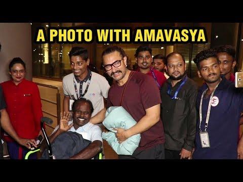 Aamir Khan Clicks A Photo With Amavasya At Mumbai