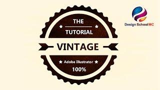 Create Vintage Badge Logo Design in Adobe illustrator - Professional Vintage Logo Design see all my video tutorial : https://www.youtube.com/channel/UCRI0so2...