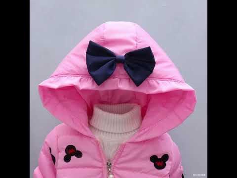 Детская одежда; зимнее хлопковое пальто с капюшоном; теплая вельвет… видео