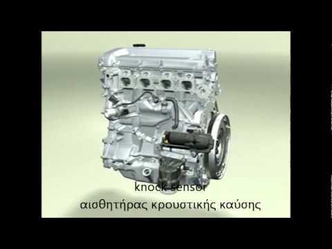 Τα βασικά μέρη του βενζινοκινητήρα με τα συνήθη υλικά κατασκευής τους