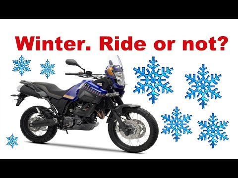Why I don't ride my motorcycle in the winter? Two simple reasons!