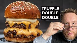 Truffle Double Double Cheese Burger from Andy Taylor at Le Bun  |  Food Busker by Food Busker