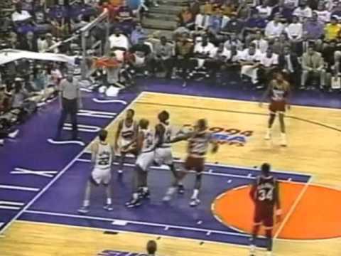 Hakeem Olajuwon Overpowers Charles Barkley, Suns - 1994 WCSF Game 4