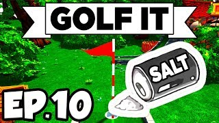 Golf It! Ep.10 - • SO SALTY, HOLE IN ONE / TWO CHALLENGE MAPS (Multiplayer Gameplay Let's Play)