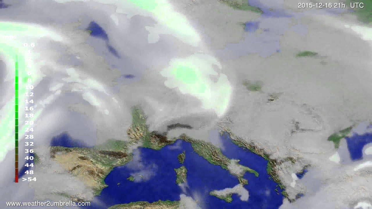 Precipitation forecast Europe 2015-12-13