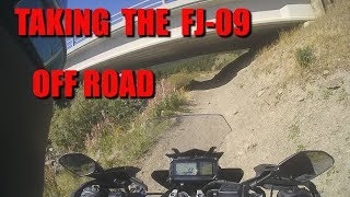 6. Finally... Taking The Yamaha FJ-09 (Tracer 900) Off Road - Waiporous, AB
