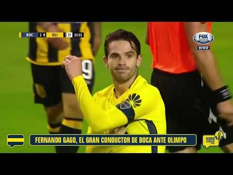 Fernando Gago, el gran conductor de Boca en la victoria ante Olimpo