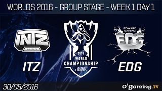ITZ vs EDG - World Championship 2016 - Group Stage Week 1 Day 1