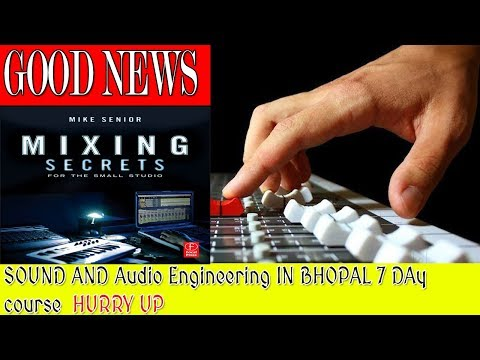 sound engineering 7 Day Fast course for live Sounding and semi digital mixing consol