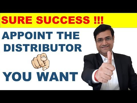How To Present To A Distributor | How To Appoint A Distributor | New Distributor | Sandeep Ray