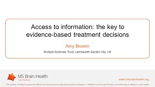 The importance of making an informed choice about multiple sclerosis treatment