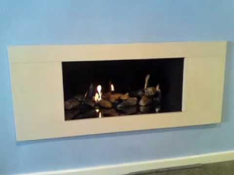 Verine Vertex gas fire burning in showroom