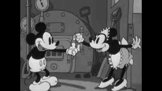 ミッキーの道路工事  Mickey's Steamroller 1934