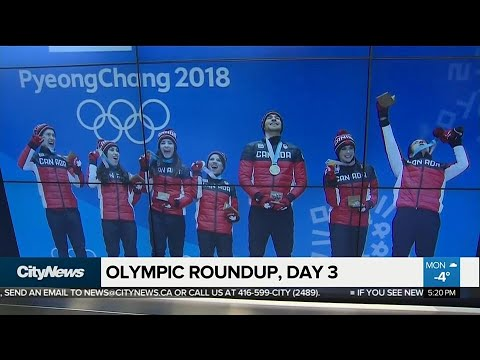 Highlights of day 3 of the Winter Olympics (видео)