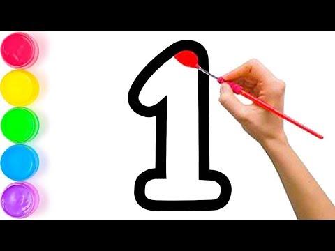 Pelajari Menggambar Dan Mewarnai Angka dan Alfabet Untuk Anak-anak
