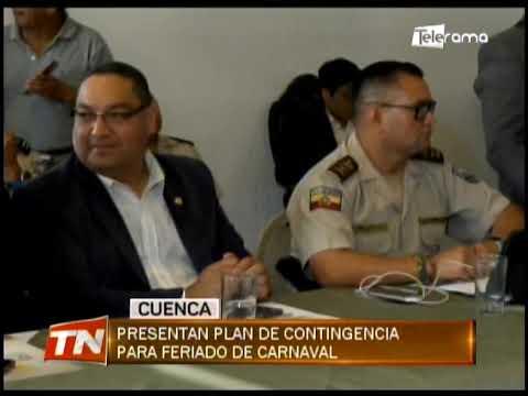 Presentan plan de contingencia para feriado de carnaval