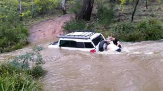 Four wheel driving with mates along the turon river. Coming in at a sunny corner and aiming to come out at capertee. However it...