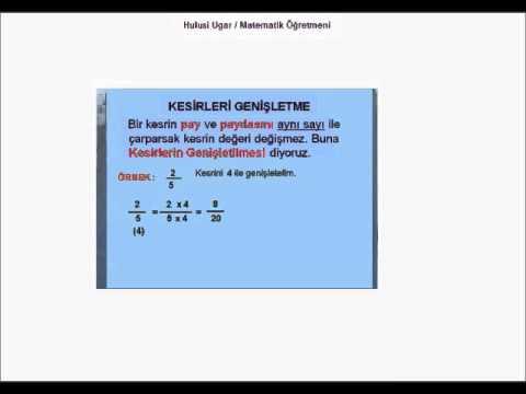 6.Sınıf Matematik / Kesirler temel kavramlar / Hulusi Ugar / Matematik Öğretmeni