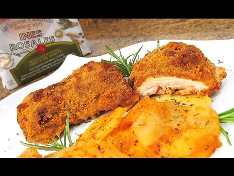 Pollo al Horno con Patatas y Tortas de Inés Rosales (видео)