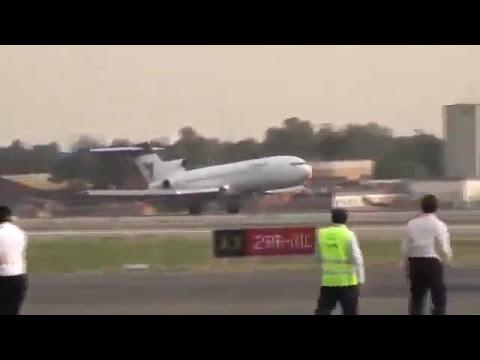طيار ايراني هبط بدون العجلة الامامية