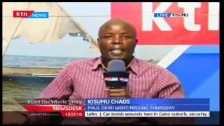 News Desk: Riots In Kisumu After The Dissapearance Of Kisumu West MCA, 30/9/2016