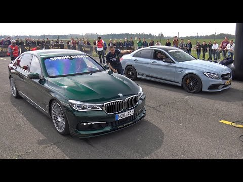 Alpina BMW B7 BiTurbo Vs C63S AMG Vs Audi RS6 Avant