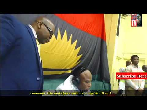 LIVE ON RADIO(watch):IPOB FAMILY IN LONDON WELCOME  THEIR LEADER, NNAMDI KANU IN THE FAMILY MEETING.