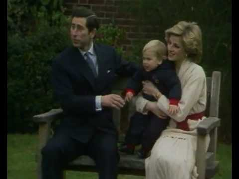 Diana - Prince Charles and Princess Diana with a young Prince William.