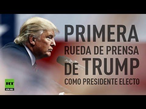 Primera intervención oficial de Donald Trump como presidente electo de EE.UU.
