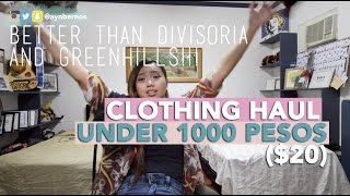 Taytay Philippines  city pictures gallery : HUGE Clothing Haul Under 1000 Pesos ($20) | TAYTAY, RIZAL