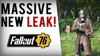 FALLOUT 76 HUGE LEAK - Gameplay Info, Multiplayer Details, Story, Building Mechanics & More!