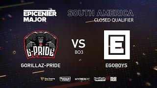 EgoBoys vs Gorillaz-Pride, EPICENTER Major 2019 SA Closed Quals , bo3, game 2 [Eritel]