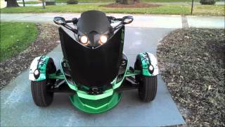 10. 2012 Custom Can-am Spyder RSS 5 Speed manual Sport Bike