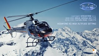 Client: Heliwest s.r.l. - Vodafone s.p.a. Marketing Manager: Laura Lastone Production: Marco Ferrero Producer Helicopter: Ecureuil As 350 B3 Staff logistic ...