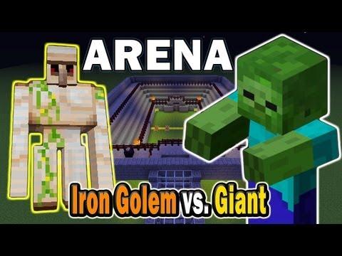Minecraft Arena Battle Iron Golem vs. Giant