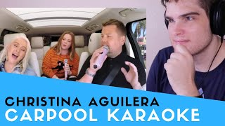 Video Voice Teacher Reacts to Christina Aguilera - Carpool Karaoke MP3, 3GP, MP4, WEBM, AVI, FLV November 2018