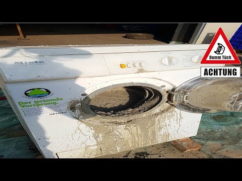 Betonreifen - Waschmaschine als Betonmischer | Dumm Tüch