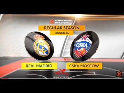 EuroLeague Highlights RS Round 16: Real Madrid 95-85 CSKA Moscow