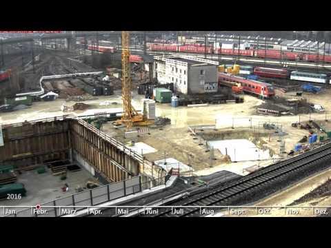 NBS: Abriss E-Lok-Bahnbetriebswerk, Portal Albabstiegstunnel, Ulm